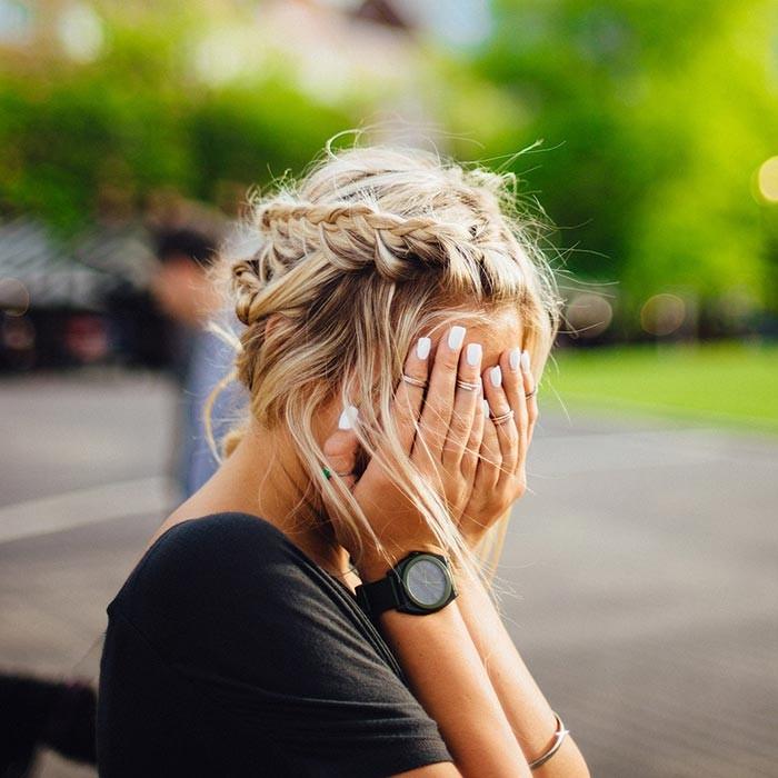 Mutter verzweifelt gestresst genervt