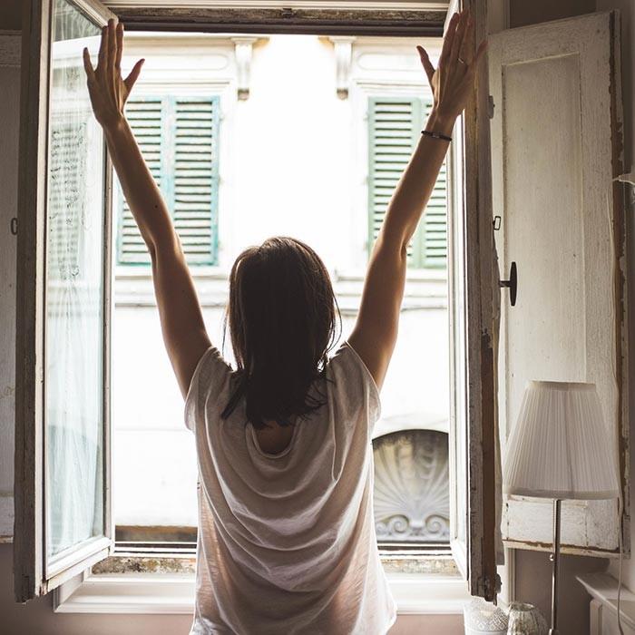 morgens aufwachen strecken