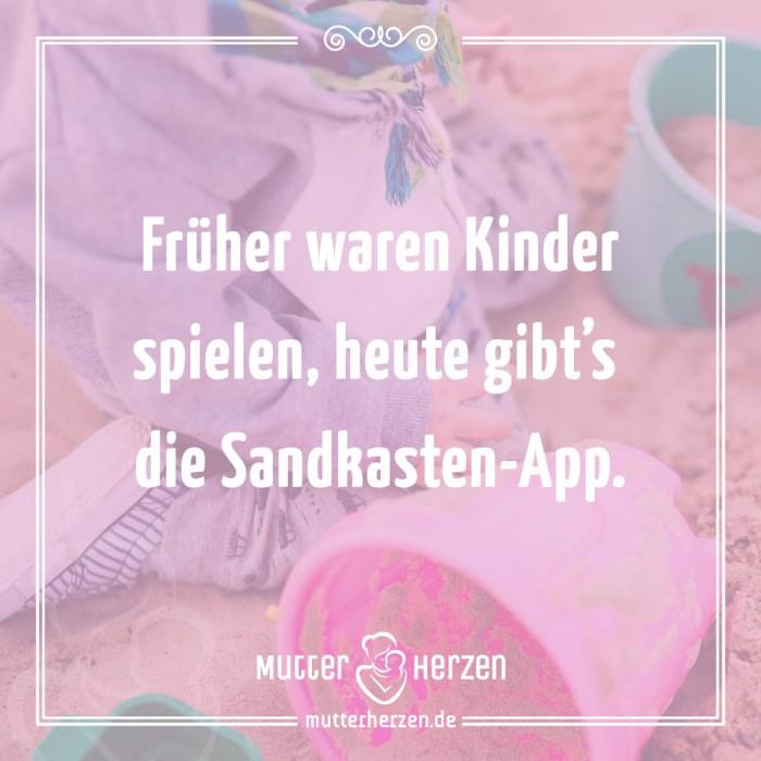Früher waren Kinder spielen, heute gibts die Sandkasten-App